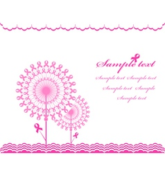 Cabstract pink support ribbon background vector
