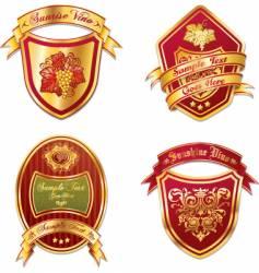 Vino stickers vector