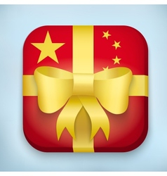 Design china gift icon for web and mobile vector