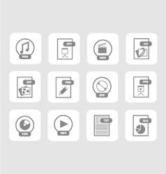 Digital files icon set 2 vector