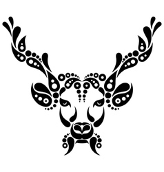 Deer tattoo symbol decoration vector