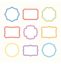 Colorful frames vector