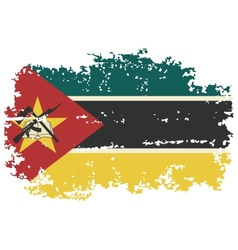Mozambique grunge flag vector