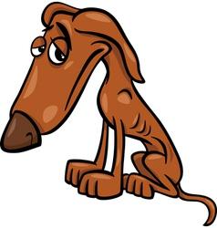 Poor hungry dog cartoon vector