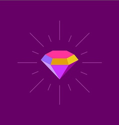 Colorful diamond logo template rays burst around vector