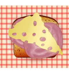 Sandwich with cheese and bacon vector