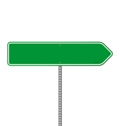 Empty green direction sign vector