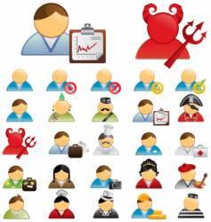 Human icons vector