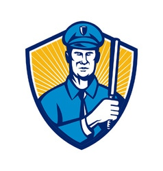 Policeman police officer vector