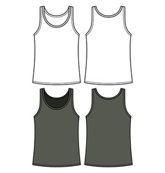Black and white singlet template vector