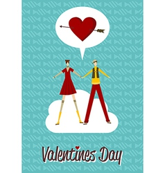 In love couple valentines day vector