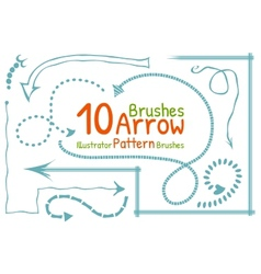 Brushes set with arrows vector