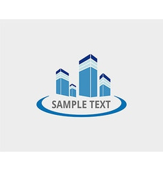 Abstract architecture building logo design vector
