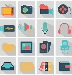 Office tech icons vector
