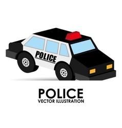 Police car design vector
