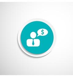 Money dollar people person banker executive smart vector