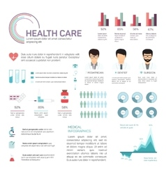 Medical infographics health and healthcare data vector