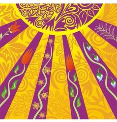 Sun nature pattern vector