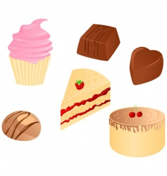 Sweet food set vector