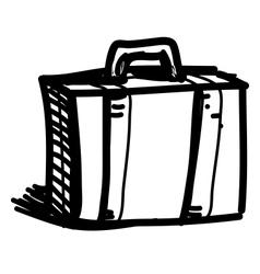 Journey suitcase sketch vector