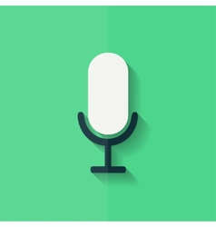 Microphone icon voice recording flat design vector