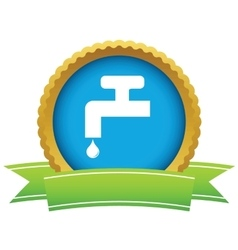 Watertap round icon vector