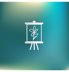 Easel with picture icon painting school symbol vector