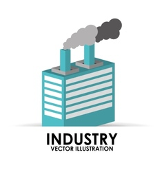 Industry building vector