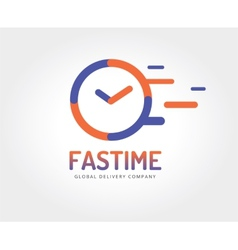 Abstract watch logo template for branding vector