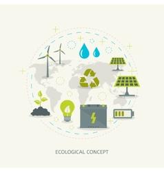 Ecologic renewable energy concept vector