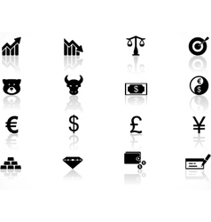 Economics icons set vector