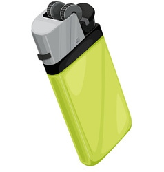 Lighter on white vector