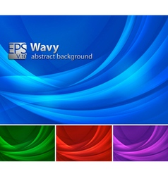 Wavy abstract background vector