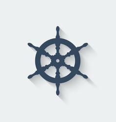 Steering wheel design element vector