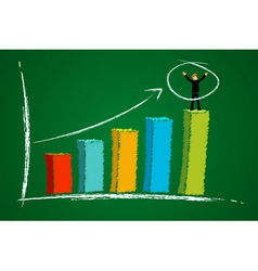 Businessman and graph vector