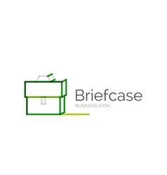Line minimal design logo briefcase vector