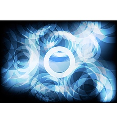 Blue circle abstract backgrounds vector