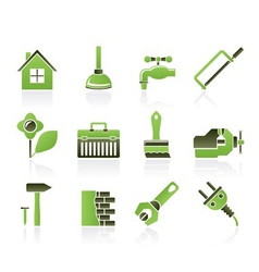 Construction and diy icons vector
