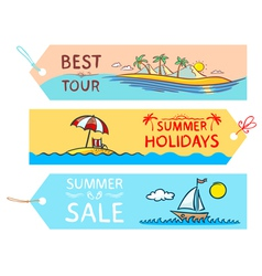 Summer labels vector