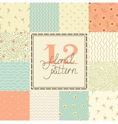 Elegant romantic seamless patterns vector