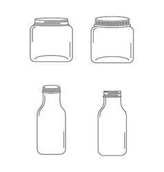 Glass bottle vector