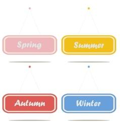 Sign boards seasons vector