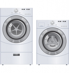 Wash machine and dryer vector