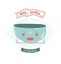 Christmas card with mug vector