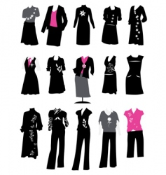 Women's business suits vector