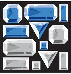 Gems of sapphire and diamond vector