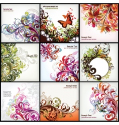 Floral graphics set vector