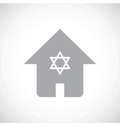 Jewish house icon vector