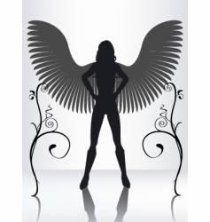 Angel silhouette vector