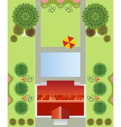Regular garden plan vector
